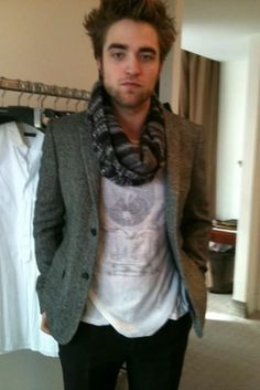 Rob Pattinson being fitted by Burberry in Munich, Germany in 2009