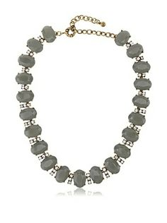 65% OFF Leslie Danzis Gray Infinity Crystal Necklace