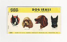 Vintage Dog Seals from a Dogs Ephemera Grab Bag.  (Dogs Ephemera Grab Bags available at http://www.uncannyartist.com/products/dogs-ephemera)