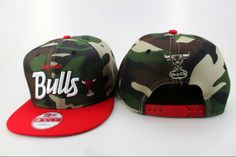 NBA Chicago Bulls Snapback Hats New Era Camouflage 2382! Only $8.90USD