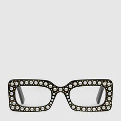 013743d20fe Rectangular-frame sunglasses with pearls Cool Glasses