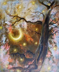 Veronica Winters - Cosmic Tree (Oil on Canvas)