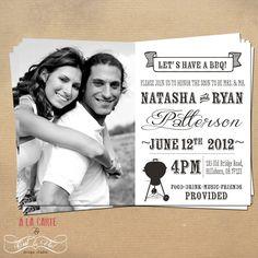 Chalkboard BBQ Couples Wedding Shower Invitation by alacartestudio, via Etsy.