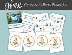 Octonauts Pary freebies
