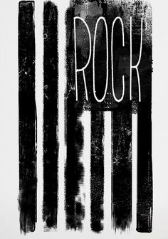 Rock Flag print by Mini & Maximus — BODIE and FOU - Award-winning inspiring concept store Tachisme, Pop Rock, Rock N Roll, Pop Art, We Will Rock You, Poster Prints, Art Prints, Graphic Posters, Black N White