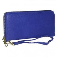 Zip Around Wallet with Wristlet Strap