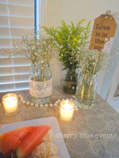 Vintage shabby-chic bridal shower.  Gold Coast Wedding Stylist.  Follow my work on Facebook:   facebook.com/cherryblueevents