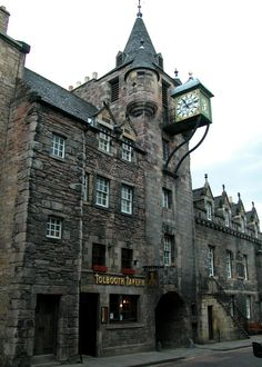 https://flic.kr/p/7t62kZ | Edinburgh,Scotland 2003 320 | This was the historic toll booth for the city.