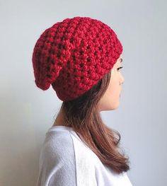 Slouchie Crochet Hat