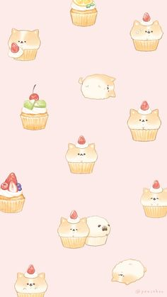 """Hey I drew Chimamafin that there is two sides for the wallpaper that can be used in smartphone 🍞 # Isutoken. Cute Food Wallpaper, Cute Pastel Wallpaper, Soft Wallpaper, Kawaii Wallpaper, Cute Wallpaper Backgrounds, Wallpaper Iphone Cute, Cute Food Drawings, Cute Animal Drawings Kawaii, Cute Cartoon Drawings"