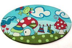 Aufnäher ♥ Frog World ♥ mit Pilzen & Frosch     Loch,Fleck weg- Frog World drauf und alles ist gut :-) Oder einfach aufhübschen von ..... und von ....