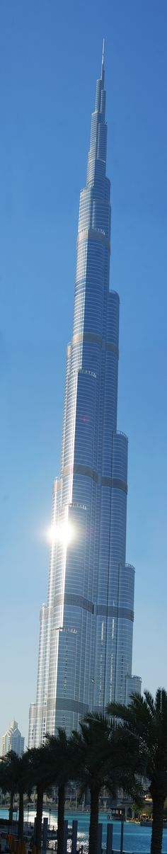 1 world tallest building in the world - Burj Khalifa in Dubai, 2,717 ft 163 floors built in 2010