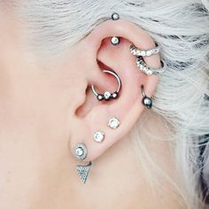 "559 Likes, 5 Comments - ѕpιrιт adornмenтѕ (@spiritadornments) on Instagram: ""SLEIGHing the ear game here!  get it?? We're only 17 days from Christmas! So... grey/white hair-…"""