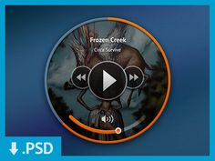 Mini Music Player (PSD) freebie!