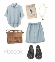 Old school outfit / bts Kpop Outfits, Korean Outfits, Girl Outfits, Casual Outfits, Fashion Outfits, Kpop Fashion, Teen Fashion, Korean Fashion, Womens Fashion
