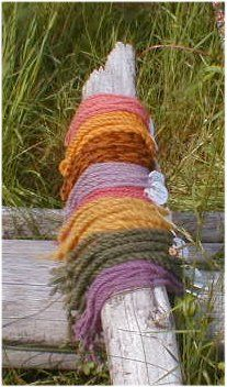 traditional lichen dye colors - extensive listing of kinds of lichen and the colors they produce