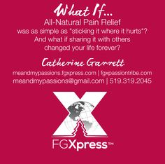 Let's kick pain meds to the curb, and give our bodies what they need to live with less pain! FGXpress PowerStrips are available worldwide. What are you waiting for? http://www.fgxpassiontribe.com/