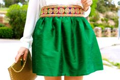 Love the belt and that green!