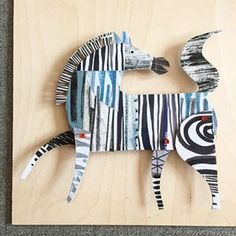 My third attempt at a Zebra, one of the missing animals from my collection. My animals are covered in patterns but because I added too many on my other versions they didn't look like Zebras. It has to be just stripes. #collageart #collageartist #paperart #paperartist #illustratorsofinstagram #mixedmediaart #designermaker #collageartistsoninstagram #arteveryday