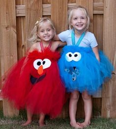 elmo and cookie monster tutu costumes