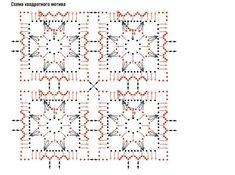 Taille 40/42 - 230 gr de fil coton mercerisé coloris pêche avec un crochet n° 1,5 - on a en tout 52 motifs à réaliser !