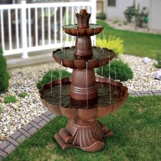 Have to have it. Alpine Valencia 3-Tiered Outdoor Fountain - $199.98 @hayneedle