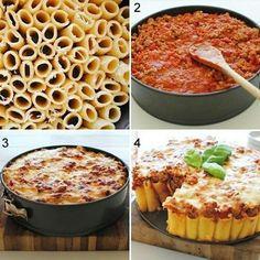 Olha que jeito diferente de fazer macarronada à bolonhesa. 🍝🍝🍝 Gostaram? #macarrão #pasta #ideiascriativas #receitadodia #receitamassa #massa #bolonhesa #receitafacil #dicastrocatrocafashion #receita