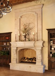 Fireplace with Overmantle - Living Room