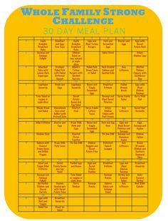WFS Challenge | 30 Day Meal Plan | Whole Family Strong