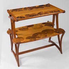 modern art nouveau furniture. Art Nouveau Furniture French Wooden Tea Table By Louis Majorelle Modern