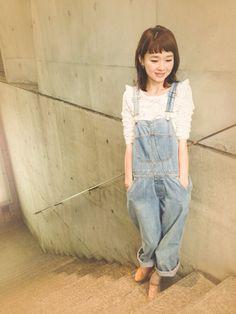 MINX harajuku   MINX佐々木千紘さんのサロペット・オーバーオール「A.P.C. 」を使ったコーディネート