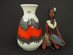 Vintage Keramik Vase / Bay / Modell 66 20 | West German Pottery | 60er von ShabbRockRepublic auf Etsy