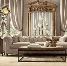 nice use of taupe, monochromatic color scheme, and scale