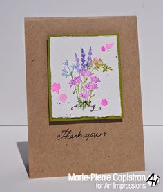 Art Impressions Rubber Stamps: Watercolor Flowers, Gorgeous Grunge type spatters of bright color.