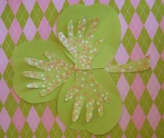 Child's Handprint Shamrock Craft