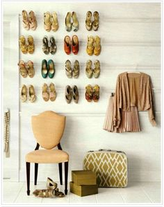 great idea for shoe storage