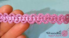 Ideas crochet lace ribbon flower tutorial for 2019 Crochet Cord, Freeform Crochet, Irish Crochet, Crochet Motif, Crochet Flowers, Crochet Lace, Crochet Stitches, Crochet Patterns, Doily Patterns