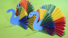 How to make Rainbow Peacock Bird Paper Craft