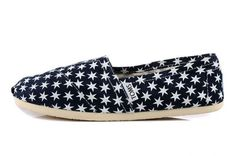 New Arrival Toms women shoes Blue hexagonal star