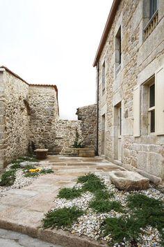 dom arquitectura / casa de piedra, carnota