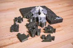 Mount Taranaki 3D puzzle by Ondrej Stritesky #toysandgames