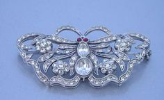 Mouse over image to zoom  Have one to sell? Sell it yourself  STUNNING DECO STYLE PAVED RHINESTONE BUTTERFLY PIN BROOCH 925 GA ITALY