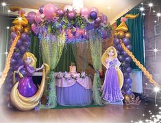 We have some tangled party ideas decoration that she will love it. Here is some inspiring decoration to have a tangled party that your kids dream of. Princess Birthday Party Decorations, Rapunzel Birthday Party, Birthday Party Design, Disney Princess Birthday Party, Princess Theme Party, Tangled Party, Birthday Party For Teens, Kids Party Themes, Princess Disney