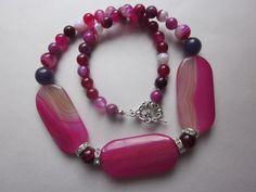 """Halskette """"Dream in Pink"""" von Perlenfieber auf DaWanda.com"""
