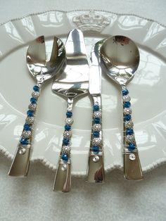 Silverware Four Piece Aria Strachan Hostess by TwoWiredWomen, $75.00