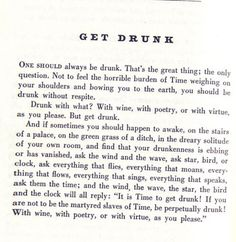 Well, Charles Baudelaire, if you say so...