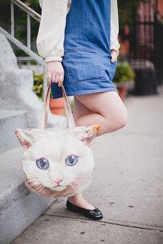 cat bag. creepy but cool // wishwishwish