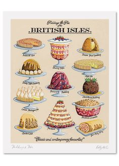 Puddings and Pies Signed Print