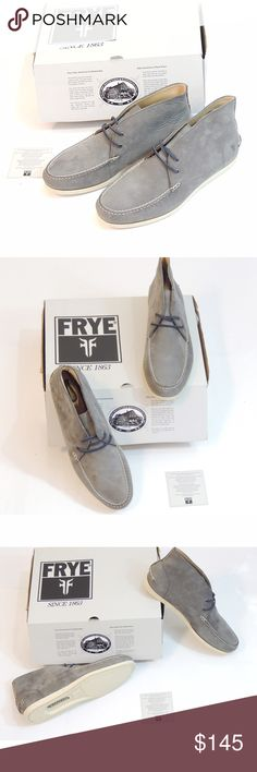 NIB Frye Boat shoe boots Brand new in box.  Look these up, they are highly acclaimed for their comfort and style.  A great American company and a great shoe. Frye Shoes Boat Shoes