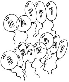 Happy Birthday Coloring Pages | printable coloring for kids ...